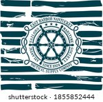 nautical ship steering wheel... | Shutterstock .eps vector #1855852444