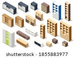 isometric set of different... | Shutterstock .eps vector #1855883977