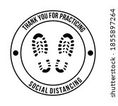 thank you for practicing social ... | Shutterstock .eps vector #1855897264
