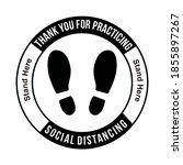 thank you for practicing social ... | Shutterstock .eps vector #1855897267