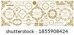 royal monogram frame. hand... | Shutterstock .eps vector #1855908424