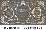 royal monogram frame. hand... | Shutterstock .eps vector #1855908601
