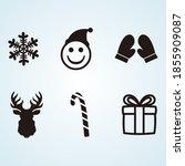 winter icons set vector... | Shutterstock .eps vector #1855909087