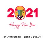 chinese new year 2021 with...   Shutterstock .eps vector #1855914604