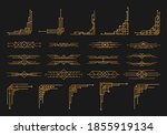 golden geometric template in... | Shutterstock .eps vector #1855919134