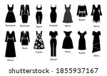 set of womens clothing wear... | Shutterstock .eps vector #1855937167