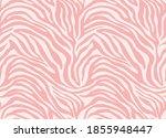 pink zebra  vector seamless... | Shutterstock .eps vector #1855948447