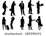 vector silhouettes of business... | Shutterstock .eps vector #185598191