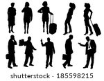 vector silhouettes of business... | Shutterstock .eps vector #185598215