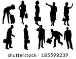vector silhouettes of business... | Shutterstock .eps vector #185598239