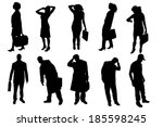 vector silhouettes of business... | Shutterstock .eps vector #185598245