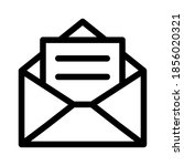 email envelope with postal... | Shutterstock .eps vector #1856020321