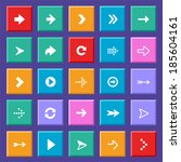 flat arrow icons | Shutterstock .eps vector #185604161