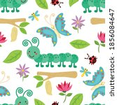 Seamless Pattern Vector Of Bugs ...