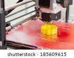 detail of a 3d printer printing ... | Shutterstock . vector #185609615