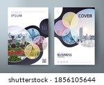 annual report brochure flyer... | Shutterstock .eps vector #1856105644