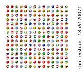 set of world flag icons. vector ... | Shutterstock .eps vector #1856120071