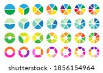 colorful pie and donut chart... | Shutterstock .eps vector #1856154964