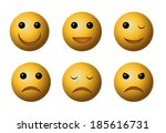 emotional face icons | Shutterstock . vector #185616731