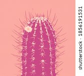Pop Art Cactus. Minimal Fashion ...