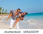 very happy couple enjoy each... | Shutterstock . vector #185620259