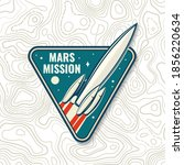mars mission logo  badge  patch....   Shutterstock .eps vector #1856220634
