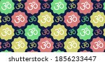om sign seamless pattern....   Shutterstock .eps vector #1856233447