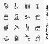 wine icons  vector. | Shutterstock .eps vector #185624309