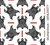 seamless pattern black... | Shutterstock . vector #185625077