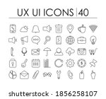 ux ui icons over white...