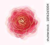 beautiful rose watercolor... | Shutterstock .eps vector #1856265004