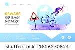 dangerous situation on highway... | Shutterstock .eps vector #1856270854