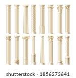 realistic antique pillars set.... | Shutterstock .eps vector #1856273641