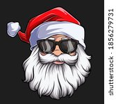 christmas santa claus face with ... | Shutterstock .eps vector #1856279731