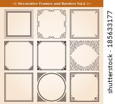 decorative frames and borders... | Shutterstock .eps vector #185633177