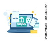 online banking and transaction... | Shutterstock .eps vector #1856333254
