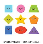 geometric funny shapes cute... | Shutterstock .eps vector #1856340361