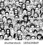 audience,avatar,background,cartoon,city,collection,community,crowd,decoration,different,doodle,drawing,drawn,event,faces