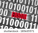 "a glaring  red ""error"" hides... 