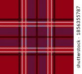 red gingham fabric. seamless... | Shutterstock .eps vector #1856355787