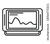 echo sounder boat icon. outline ...