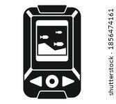 echo sounder boat icon. simple...