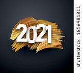 2021 white sign over golden... | Shutterstock .eps vector #1856481811