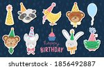 Set Of Vector Stickers With...