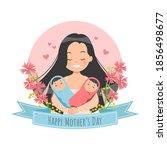 happy mother's day celebration. ...   Shutterstock .eps vector #1856498677