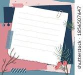 scrapbook composition with... | Shutterstock .eps vector #1856507647