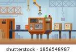 conveyor production factory... | Shutterstock .eps vector #1856548987