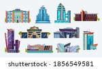 buildings icons  city hotel and ... | Shutterstock .eps vector #1856549581