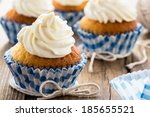 Gourmet Cupcakes With White...