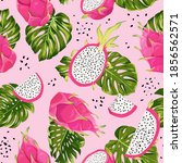 seamless dragon fruits pattern  ... | Shutterstock .eps vector #1856562571